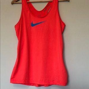 {nike} Coral and Blue Tank Top